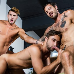 Nude Men In A Gay Threesome