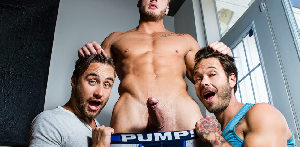 Nude Gay Men Threesome